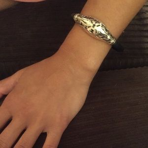 Jewelry - Sterling Silver and rubber bracelet.